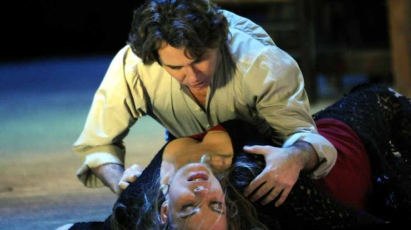 Roberto Alagna and Elena Garanca in Carmen at the Deutsche Oper Berlin.